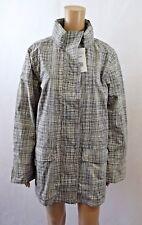 Bnwt Artigiano Weekend Black/Ivory Print Waterproof Rain Coat - Size L (R122)
