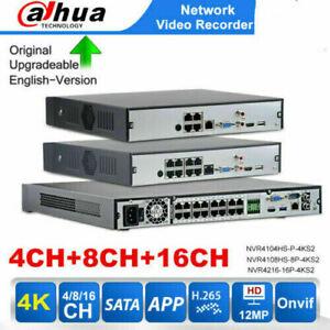Dahua NVR 16CH 8CH 4CH 4PoE 8PoE 16PoE Network Video Recorder NVR4216-16P-4KS2