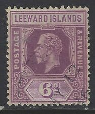 Leeward Islands, Scott #75, 6p King George V, Wmk 4, Used