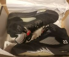 "Air Jordan Retro 5 ""Metallic"" Black Red Size 9.5 2011 V Five Good Shape"