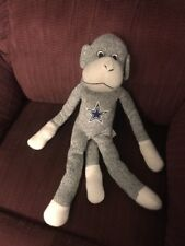 DALLAS COWBOYS NFL SOCK MONKEY PLUSH DOLL FIGURE LONG ARMS TO GIVE HUGS