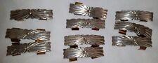 Sterling Silver Belt Loop Conchos set of 10 signed 58 grams
