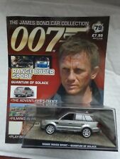 JAMES BOND 007 CAR COLLECTION - RANGE ROVER SPORT - QUANTUM OF SOLACE ISSUE #79