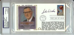 John Wooden Signed Autographed First Day Cover 100th Anniversary UCLA PSA/DNA