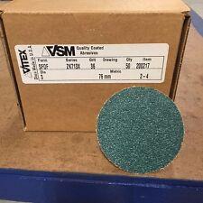"VSM SF0F ZK713X 36 Grit 3"" Stick-on Disc Zirconia Aluminum Discs (Box/50"