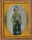 HAND+COLORED+AMBROTYPE+ANTIQUE+PHOTO+BOY+WITH+FABULOUS+RED+AND+GREEN+COAT