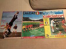ALBUM FIGURINE RACCOLTA CALCIATORI PANINI 1962/63 1964/65 1966/67  3 FASCICOLI