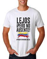 Pray for Venezuela T-shirt Peace lejos pero no ausente  Support Patriotic mens