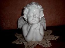 ANGELOT PENSANT GRAND BUSTE 14 C MS DE HAUT   SUPERBE  en porcelaine BLANCHE  !!