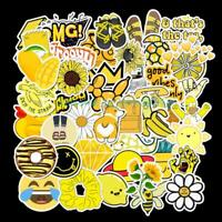 50 Pc Cartoon Yellow DIY Waterproof Sticker Suitcase Laptop Bicycle Helmet Decal