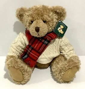 "Collectable Harrod's 2002 Christmas Bear - Giles - With Tag 13"" / 33cm - Harrods"