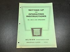 Original OE OEM Oliver 280 281 Spreaders Operators Manual # C4625A April 1964