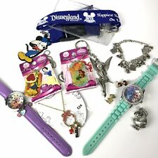 Disney Collector Lot Jewelry & More Charm Bracelet Watches Working Mickey Elsa