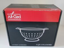 All-Clad Gourmet 5 QT Stainless Steel Colander ~ 5605C