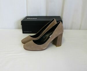 Dune London Abelle Suede Heels - Women's Size 5M - Taupe