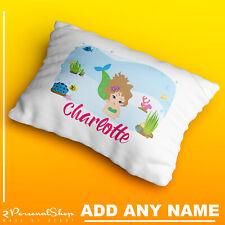 Personalised Mermaid Pillowcase Printed Children Gift Custom Print New