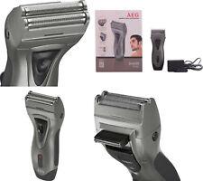 Afeitadora inalámbrica o cable AEG,doble lámina,cortador de patillas,bateria