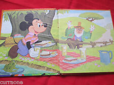 Tell-A-Tale Book MICKEY MOUSE AND THE SECOND WISH 1973 HARDCOVER Disney