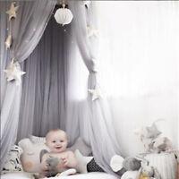 Baby Baldachin Betthimmel Kinder Bett Baumwolle Hängende Moskitonetz Fliegennetz