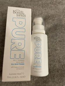 BNIB Bondi Sands Pure Self Tanning Face Mist 70ml With Hyaluronic Acid & Vit C