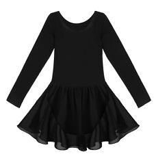 Girls Kids Leotard Children Sport Dance Ballet Tutu Gymnastics Leotard Dress
