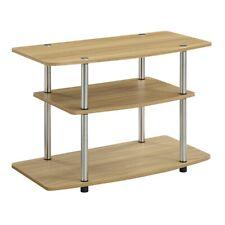Convenience Concepts Designs2Go 3 Tier TV Stand, Light Oak - 131020LO