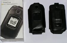New Verizon Fitted Case for Samsung Gusto 2 with Swiveling Belt Clip, Black