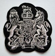 MOTTO BRITISH MONARCH DIEU ET MON DROIT Embroidered Iron on Patch Free Shipping