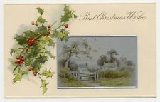 1905 BEAUTIFUL CHRISTMAS POSTCARD SIGNED KLINE PC1141