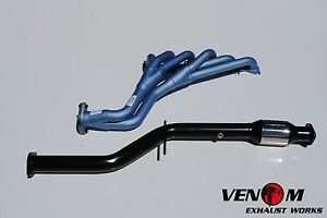 Ford BA BF 6 CYL Pacemaker PH4490 Extractors & VENOM Cat - XR6 Headers Exhaust