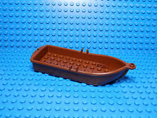 LEGO LEGOS   -  One NEW FLOATABLE Boat  14 X 5 X 2  with Oarlocks  BROWN