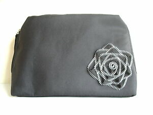 New Lancome BLACK ROSE Travel Makeup Case Cosmetic Bag Clutch