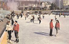 Postcard Concord Hotel Kiamesha Lake NY ice Skating Sports Resort  Winter