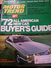 Vintage OCTOBER 1971 MOTOR TREND Magazine 130pp Vintage ADS, Articles