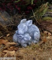 Latex only mini duo bunny rabbit mold plaster concrete casting garden mould