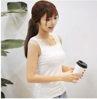 Women Summer Casual Lace Blouse Tank Tops Sleeveless Loose Vest T-Shirt Modal