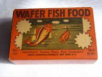 Vintage Hartz Mountain Wafer Fish Food Box Pet Aquarium Tropical Advertising