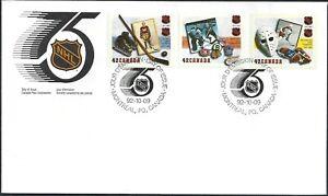 Canada  # 1443 - 1445   NATIONAL HOCKEY LEAGUE  Brand New 1992 Unaddressed Issue