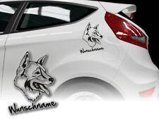 Aufkleber Tamaskan Dog Husky Wolf-dog Finnish H419 Wunschname Auto