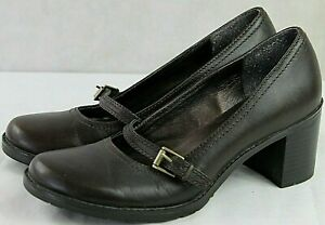 BASS womens casual dress shoes size 8 medium leather upper brown great condition