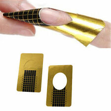 50 Nail Art Gold Guide Forms Acrylic / UV Gel Tips Extensions Manicure Stickers