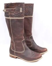 TIMBERLAND Earthkeepers Madison Heights Brown Floral Leather Riding Boot Women 6