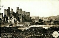 Conway Castle postcard antique vintage printed L&NWR railway company