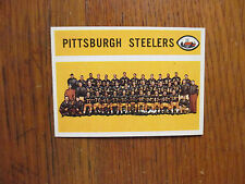 1960  Topps  PITTSBURGH  STEELERS   Unmarked  Team  Card/Checklist