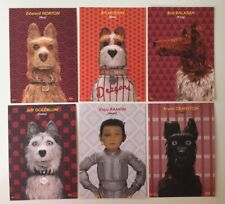 ISLE OF DOGS (2018), Wes Anderson, 6 x Promo Cinema Postcards Lobby Cards
