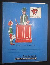 PROTEGE CAHIER VACHE QUI RIT ANNEES 1950-1960 HERVE BAILLE FRANCAIS CIRQUE