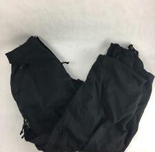Billabong Mens Snowboarding Pants Black Zipper Fly Cargo Pockets Flat Front L