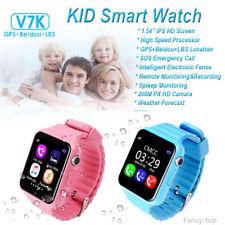 "V7k 1,54"" Azul IPS GPS Niño reloj inteligente Cámara SOS de llamada de fitness"