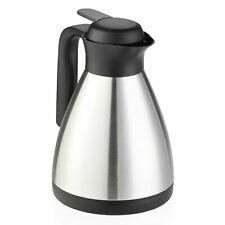Leifheit Stainless Steel Jug Shine, Isolating Jug Thermos Coffee Pot Black 1l