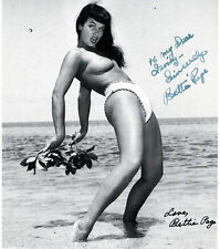 AMERICAN MODEL ,QUEEN OF PIN-UP BETTIE PAGE ,SIGNED VINTAGE PHOTO. Bunny Jager.